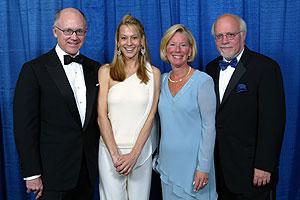 Robert Wood Johnson IV with Suzanne Ircha, Nancy Rabinowitz and President Stuart Rabinowitz