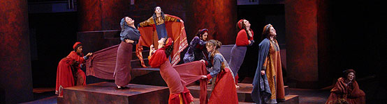 Seven Against Thebes, the first play performed in Hofstra's Black Box Theater in the New Academic Building