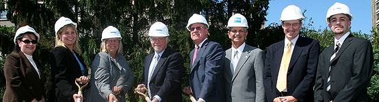 Breaking ground for a new residence hall