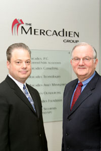 Ken Kamen (left) and Don Conway share alumni status and management duties at The Mercadien Group, based in Princeton, New Jersey.
