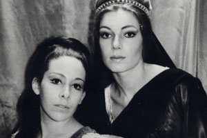 Susan (left) played Portia to Susan Sullivan's Calpurnia in the 1964 Hofstra Shakespeare Festival production of Julius Caesar.