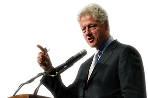 President Bill Clinton at Hofstra University's Presidential Conference