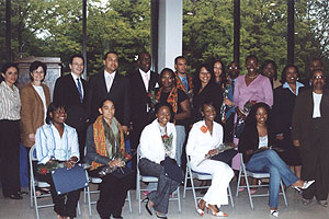 NOAH students celebrate their academic success at the 2005 graduation reception for the program