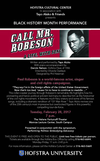 Call Mr. Robeson Postcard
