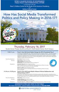 How Has Social Media Transformed Politics and Policy Making in 2016-17?