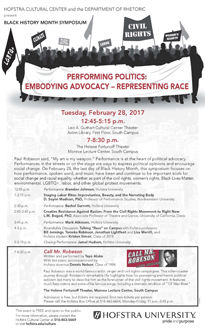 Performing Politics: Embodying Advocacy - Representing Race