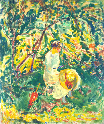 Alfred Mauer, Woman in a Garden