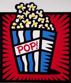 Burton Morris, Popcorn (Red Background)