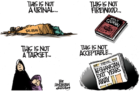 Walt Handelsman, Not Acceptable