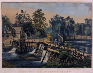 Currier & Ives, The Mill Dam at Sleepy Hollow