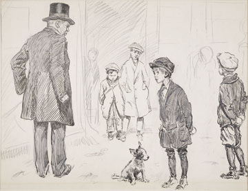 Charles Dana Gibson, Urchins with Snowballs/Snowballing