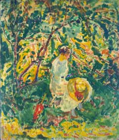 Alfred Maurer: Woman in a Garden