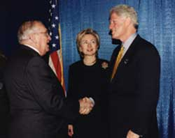Clintons with University President Shuart
