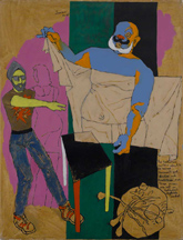 M.F. Husain, Untitled, from Winds of Desire Series, 1989