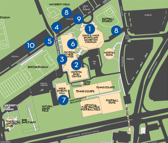 Map of Debate Area   2008 Presidential Debate   Hofstra University