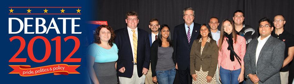 Jeb Bush with Hofstra Students - Debate 2012