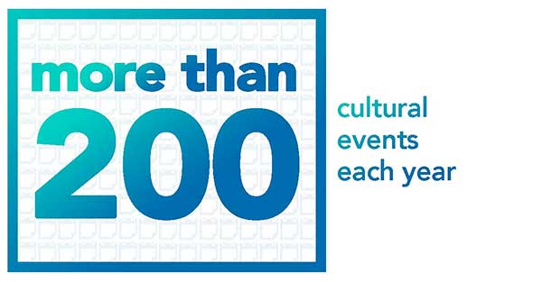 Over 200 cultural events each year