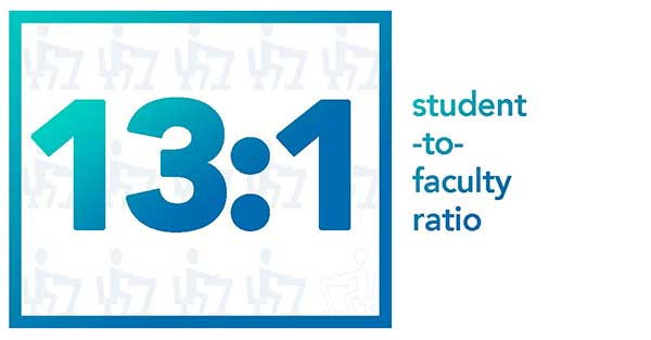 13-to-1 student-to-faculty ratio