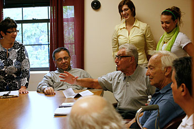 Hofstra's aphasia support group meets weekly at the Joan and Arnold Saltzman Community Services Center.