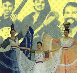 Graphics taken from the Hispanic/Latino Collection. The Panambi Vera dance group is shown. The Castaneda family (playing traditional Colombian music at venues on Long Island and elsewhere) are also shown.