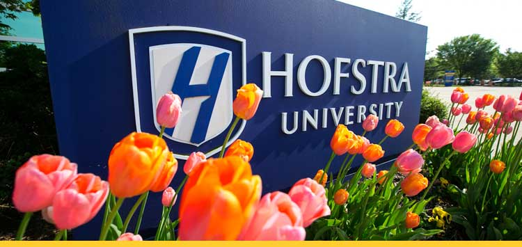 The campus at Hofstra University