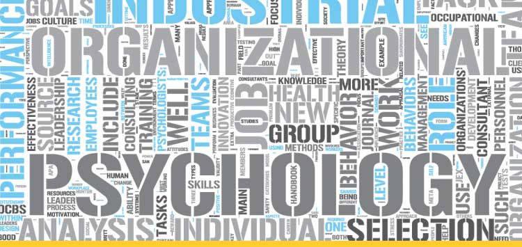 INDUSTRIAL/ORGANIZATIONAL PSYCHOLOGY master's program word cloud