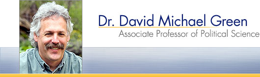 Dr. David Michael Green, Associate Professor of Political Science