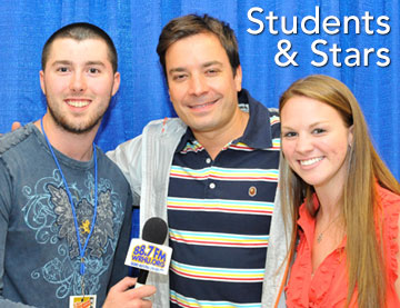 At WRHU students meet and interview the biggest stars in the world! Jimmy Fallon - NBC TV's Tonight Show Host