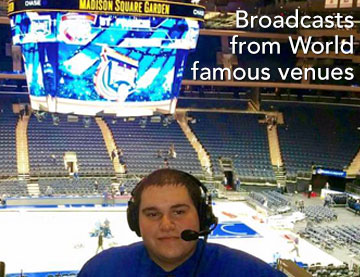 Broadcasts from World famous venues