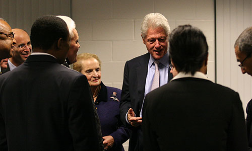 Madeleine Albright and Bill Clinton