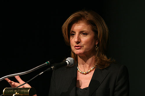 Arianna Huffington on The Cultural Divide panel
