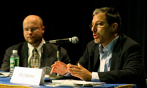 (l to r) Bradley Freeman and Eric Alterman on the Considering the Press panel