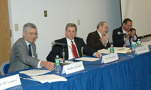 Theodore Kovaleff, Larry Bumgardner, Norman I. Silber and Stuart Bass on the Antitrust and Business Regulation panel