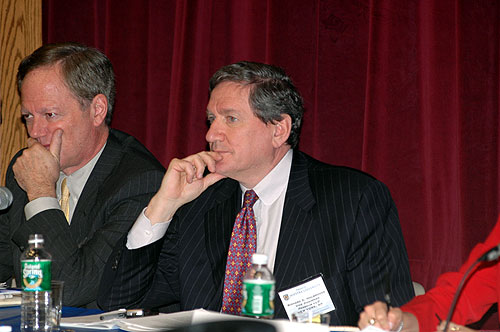 Jerry Pubantz and Richard Holbrooke at The United States and the United Nations panel