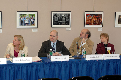 Nancy Soderberg, Timothy Lynch, John Dumbrell, Catherine Shannon at the panel on Northern Ireland