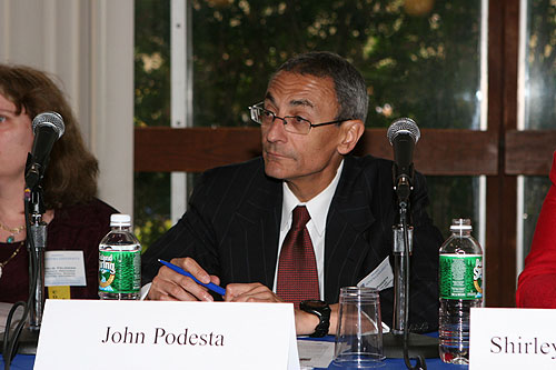 John Podesta at the Staffing and Administration panel