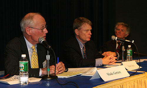 Slade Gorton, Rand Beers and Gary Hart at the Confronting Terrorism panel