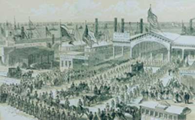 Arrival of the Remains at Desbrosses Street Ferry, Obsequies of Abraham Lincoln in the City of New York, 1866