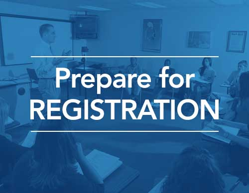 Prepare for Registration