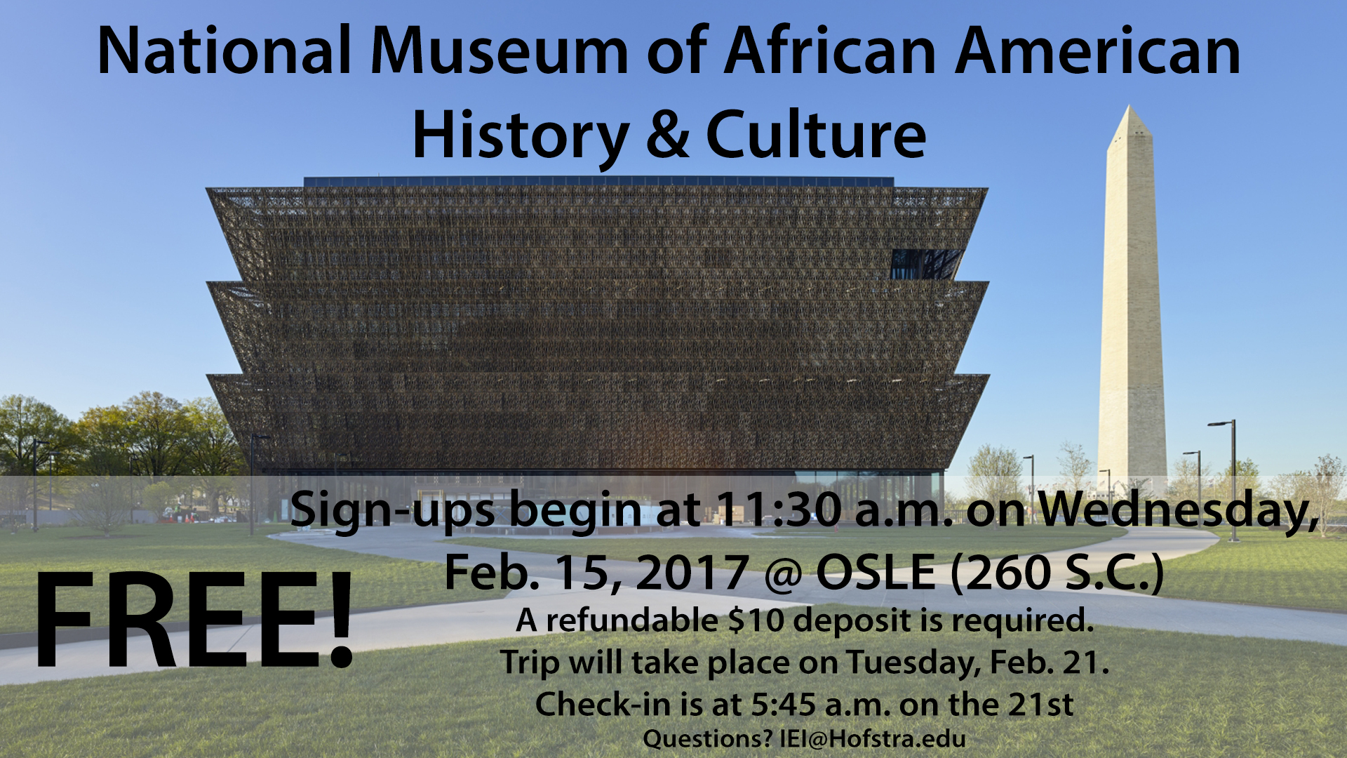 NMAAHC Trip Information