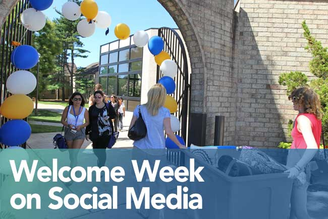 Welcome Week on Social Media