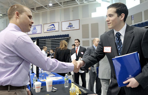 Zarbcar Career Fair Shaking hands