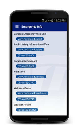 Hofstra Android app