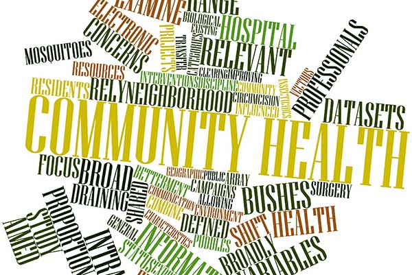 community health word cloud