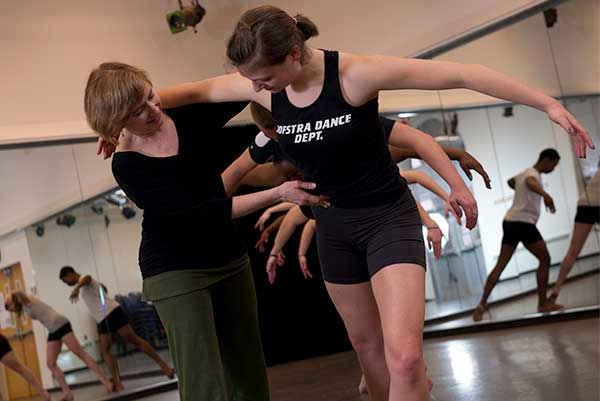 Dance Teacher teaching student