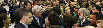 Bill Clinton at his 2005 Hofstra Presidential Conference