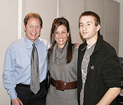 Rick Dees with Radio Hofstra University Students Olivia Stanchina and Greg Overhuls