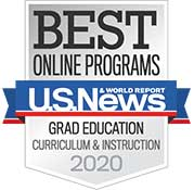 Best Online Programs - U.S. News and World Report: Grad Education Curriculum & Instruction 2020