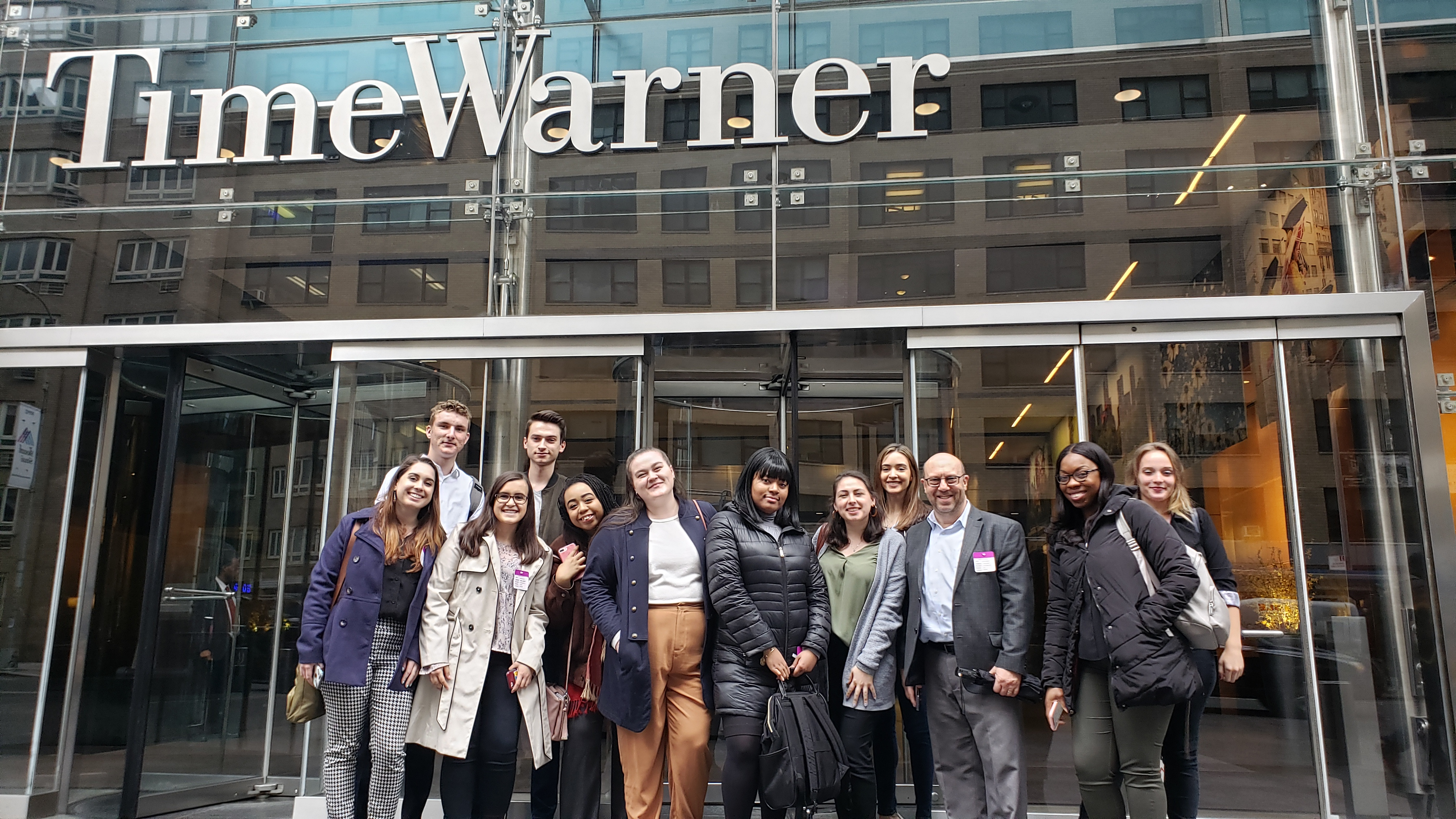 Students at Time Warner